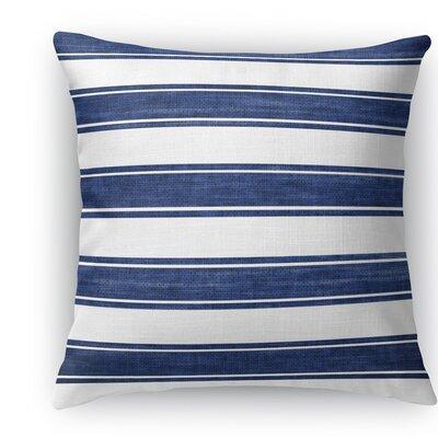 Melton Stripe Burlap Indoor/Outdoor Throw Pillow Size: 16 H x 16 W x 5 D