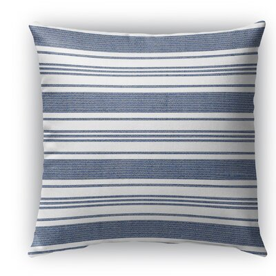 Ellery Indoor/Outdoor Throw Pillow Color: Blue/White, Size: 18 H x 18 W x 5 D