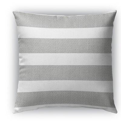 Centerville Burlap Indoor/Outdoor Throw Pillow Color: Light Gray, Size: 18 H x 18 W x 5 D