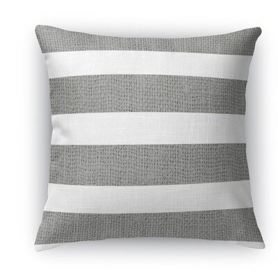 Centerville Burlap Indoor/Outdoor Throw Pillow Color: Dark Gray, Size: 18 H x 18 W x 5 D