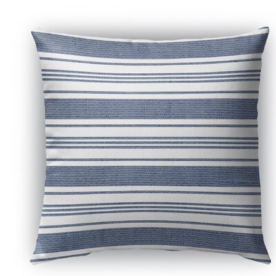 Ellery Burlap Indoor/Outdoor Throw Pillow Color: Blue/White, Size: 26 H x 26 W x 5 D