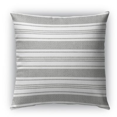 Sagamore Burlap Indoor/Outdoor Throw Pillow Size: 26 H x 26 W x 5 D, Color: White/Light Gray