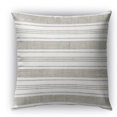 Ellery Burlap Indoor/Outdoor Throw Pillow Size: 18 H x 18 W x 5 D, Color: Beige/White