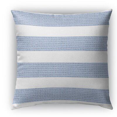 Centerville Burlap Indoor/Outdoor Throw Pillow Color: Light Blue, Size: 18 H x 18 W x 5 D
