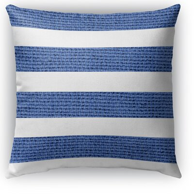 Centerville Burlap Indoor/Outdoor Throw Pillow Color: Dark Blue, Size: 26 H x 26 W x 5 D