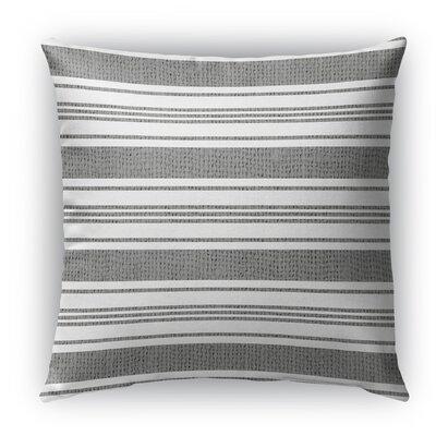 Sagamore Burlap Indoor/Outdoor Throw Pillow Size: 26 H x 26 W x 5 D, Color: White/Dark Gray