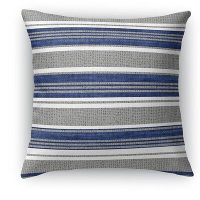 Sagamore Burlap Indoor/Outdoor Throw Pillow Size: 16 H x 16 W x 5 D, Color: Blue/Dark Gray