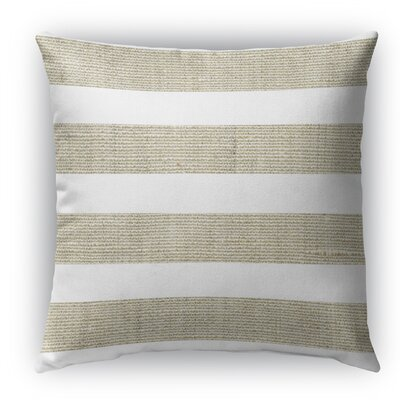 Centerville Burlap Indoor/Outdoor Throw Pillow Size: 26 H x 26 W x 5 D, Color: Beige