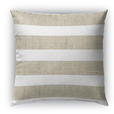 Centerville Burlap Indoor/Outdoor Throw Pillow Color: Beige, Size: 16 H x 16 W x 5 D