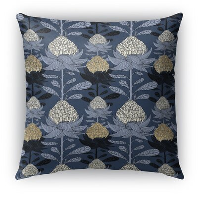 Elicia Blossom Burlap Indoor/Outdoor Throw Pillow Size: 26 H x 26 W x 5 D