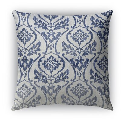 Seabury Burlap Indoor/Outdoor Throw Pillow Size: 18 H x 18 W x 5 D, Color: Gray/Blue
