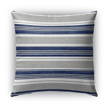 Sagamore Burlap Indoor/Outdoor Throw Pillow Color: Blue/Light Gray, Size: 16 H x 16 W x 5 D