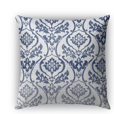Seabury Burlap Indoor/Outdoor Throw Pillow Color: White/Blue, Size: 16 H x 16 W x 5 D