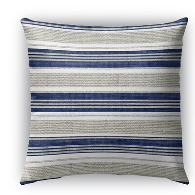 Ellery Indoor/Outdoor Throw Pillow Color: Beige/Blue, Size: 18 H x 18 W x 5 D