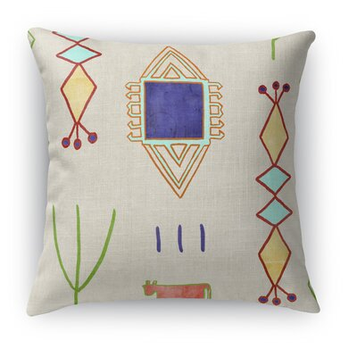 Chrarda Accent Pillow Size: 18 H x 18 W x 5 D, Color: Yellow/ Green/ Teal/ Purple