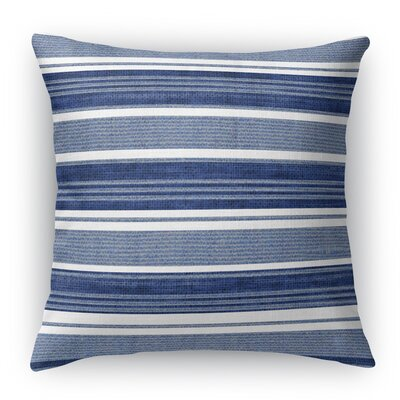Ellery Burlap Indoor/Outdoor Throw Pillow Size: 26 H x 26 W x 5 D, Color: Gray/Dark Blue