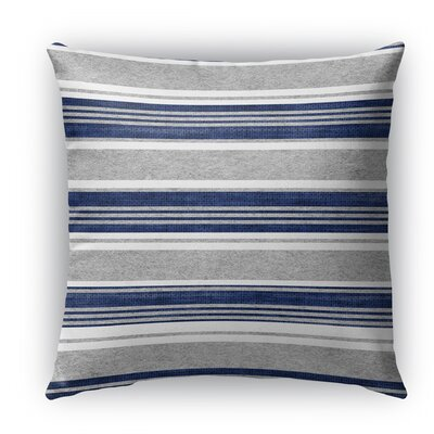 Sagamore Burlap Indoor/Outdoor Throw Pillow Size: 16 H x 16 W x 5 D, Color: Blue/ Grey
