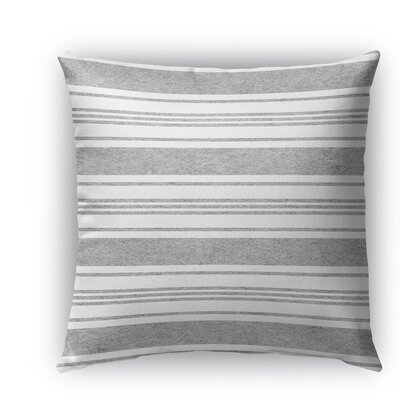 Sagamore Burlap Indoor/Outdoor Throw Pillow Color: Blue/Light Gray, Size: 20 H x 20 W x 5 D