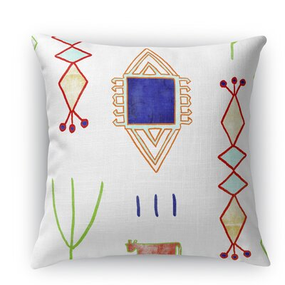 Chrarda Burlap Indoor/Outdoor Throw Pillow Size: 26 H x 26 W x 5 D, Color: White