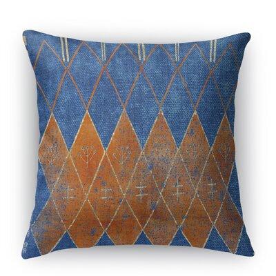 Nessadiou Burlap Indoor/Outdoor Throw Pillow Size: 20 H x 20 W x 5 D, Color: Blue