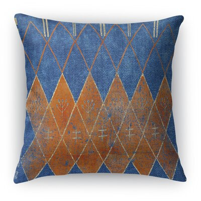 Nessadiou Burlap Indoor/Outdoor Throw Pillow Size: 26 H x 26 W x 5 D, Color: Blue