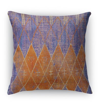 Nessadiou Burlap Indoor/Outdoor Throw Pillow Size: 16 H x 16 W x 5 D, Color: Purple
