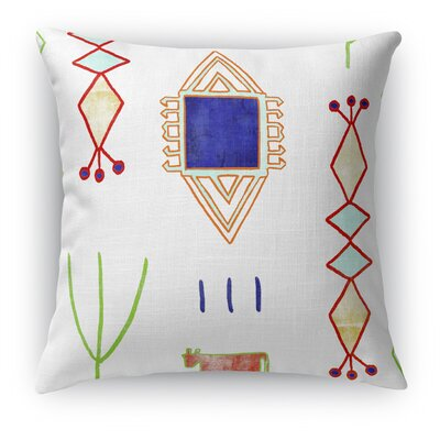 Chrarda Burlap Indoor/Outdoor Throw Pillow Size: 20 H x 20 W x 5 D, Color: Teal/ Purple/ Gold/ Green