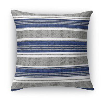 Sagamore Throw Pillow Size: 16 H x 16 W x 5 D, Color: Blue / Dark Gray
