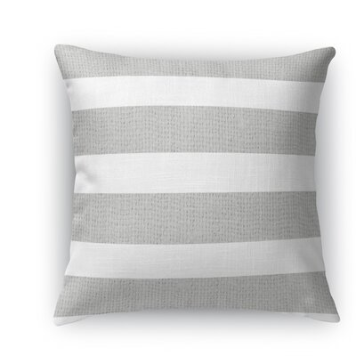 Centerville Throw Pillow Color: Light Gray, Size: 24 H x 24 W x 5 D