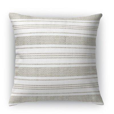 Ellery Throw Pillow Color: Beige/White, Size: 18 H x 18 W x 5 D