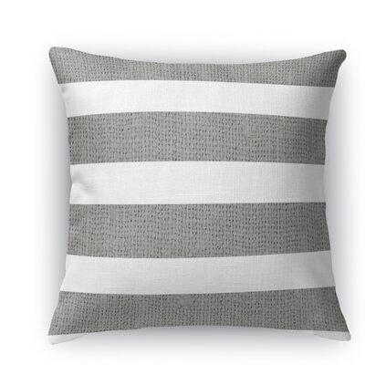 Centerville Throw Pillow Size: 16 H x 16 W x 5 D, Color: Dark Gray