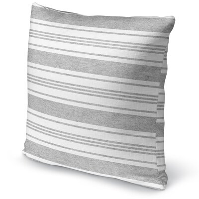 Sagamore Accent Pillow Size: 18 H x 18 W x 5 D, Color: Grey/ White