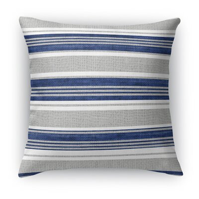 Sagamore Throw Pillow Color: Blue/Light Gray, Size: 24 H x 24 W x 5 D
