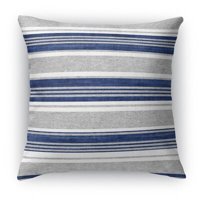 Sagamore Throw Pillow Size: 16 H x 16 W x 5 D, Color: White/Light Gray