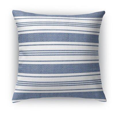 Ellery Throw Pillow Color: Blue/White, Size: 24 H x 24 W x 5 D