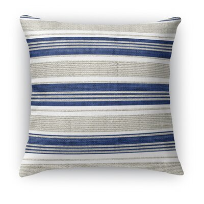 Ellery Throw Pillow Color: Beige/Blue, Size: 24 H x 24 W x 5 D