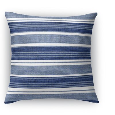 Ellery Throw Pillow Size: 16 H x 16 W x 5 D, Color: Gray/Dark Blue
