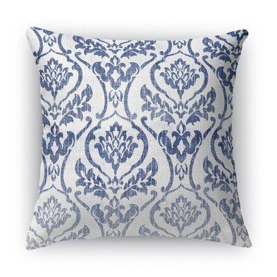 Seabury Throw Pillow Color: White/Blue, Size: 18 H x 18 W x 5 D