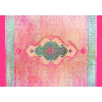 Cedric Pink Area Rug Rug Size: 2 x 3