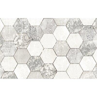 Hexa Gray/White Area Rug Rug Size: 3 x 5