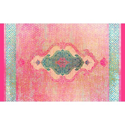 Cedric Pink Area Rug Rug Size: 3 x 5