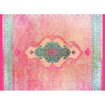 Cedric Pink Area Rug Rug Size: 5 x 7