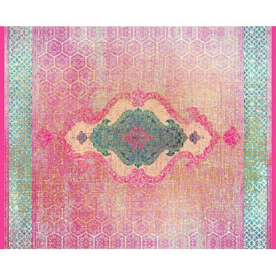 Cedric Pink Area Rug Rug Size: 8 x 10