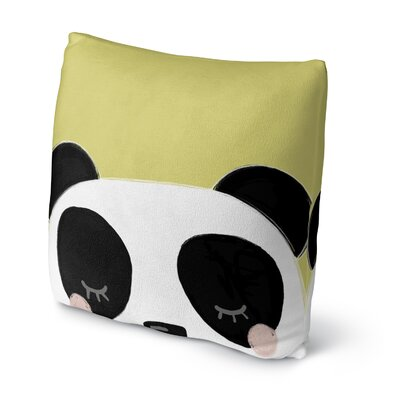 Panda Throw Pillow Size: 18 H x 18 W x 4 D