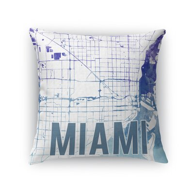 Miami Sunset Front Throw Pillow Size: 24 H x 24 W x 5 D, Color: Purple