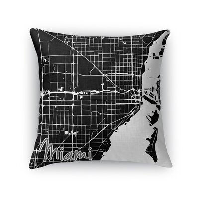 Miami Throw Pillow Size: 18 H x 18 W x 5 D