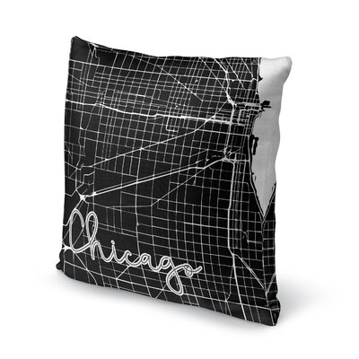 Chicago Accent Pillow Size: 18 H x 18 W x 5 D