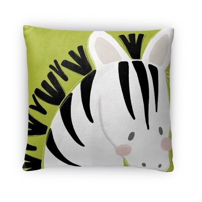 Zebra Throw Pillow Size: 18 H x 18 W x 4 D