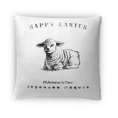Easter Lamb Throw Pillow Size: 18 H x 18 W x 4 D