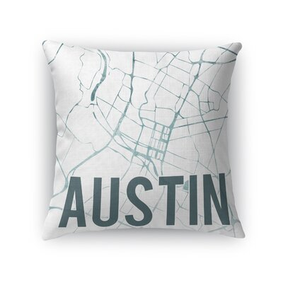 Austin Sunset Front Throw Pillow Size: 18 H x 18 W x 5 D, Color: Teal